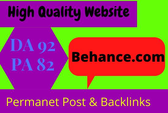 Write & Publish Guest Post Behance. com Website