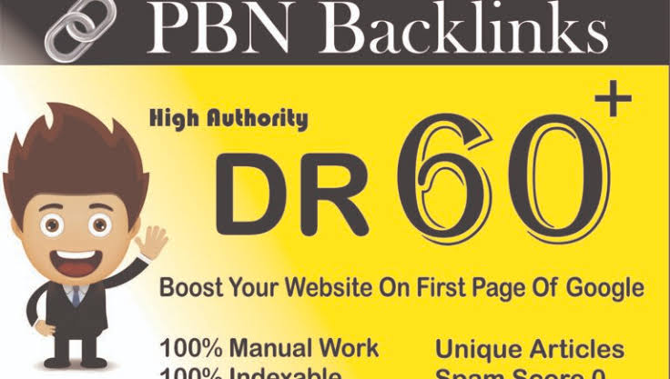 I wil create 25 Powerful Homepage PBN DR 60+ backlinks