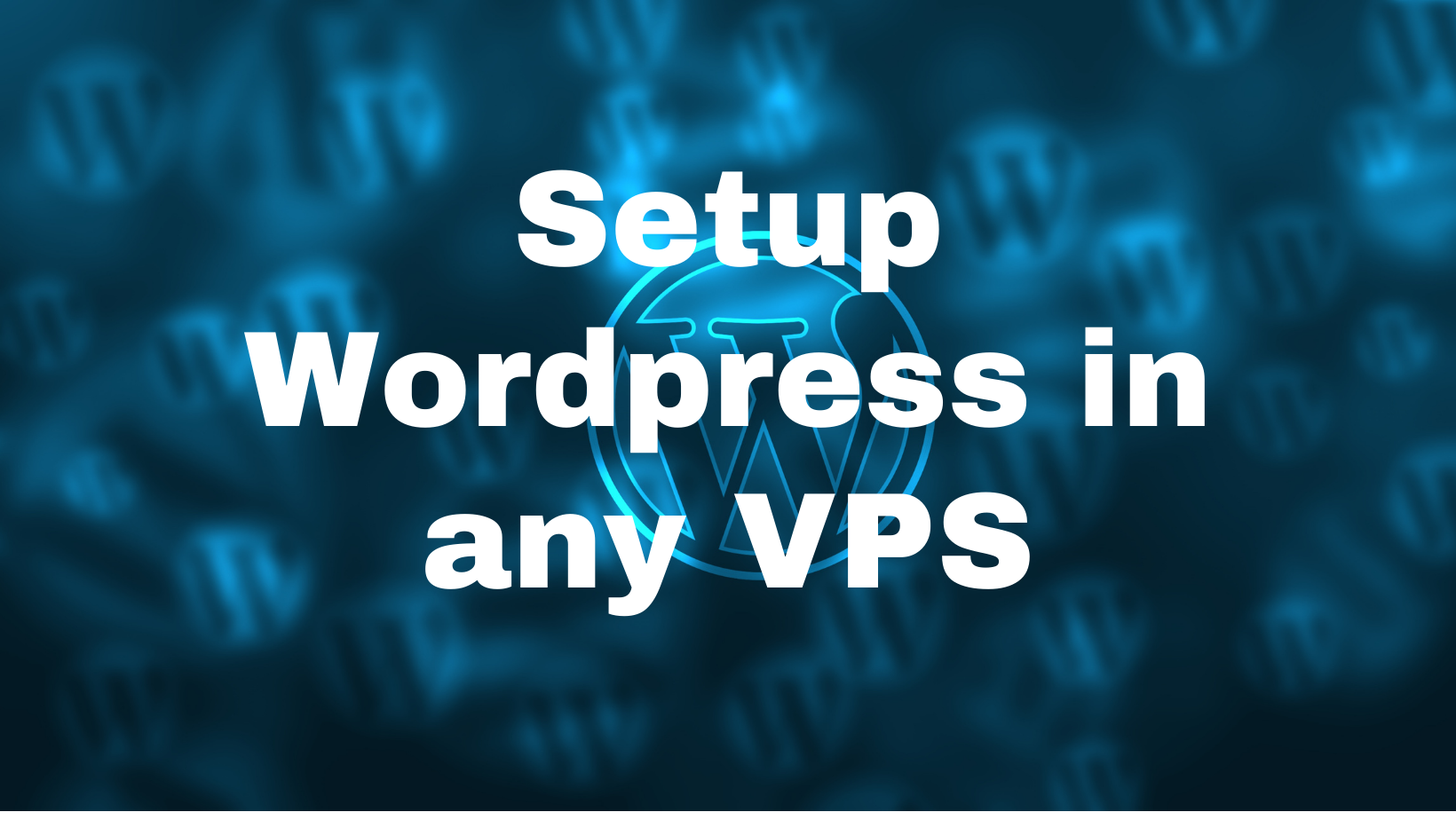 Install Wordpress your VPS server with a responsive theme and plugins without added price.