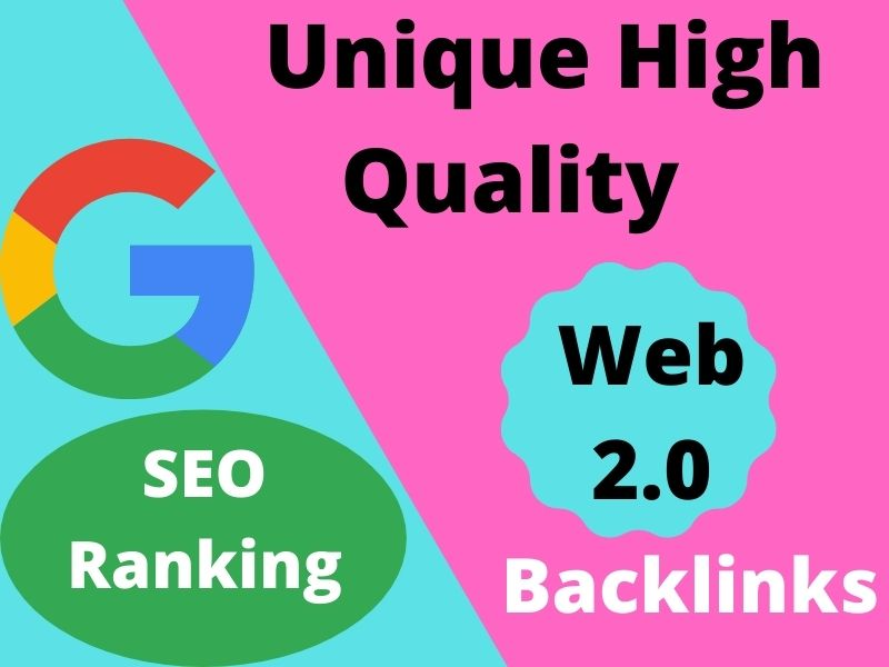 I will provide 20+ unique High quality web 2.0 Dofollow Backlinks