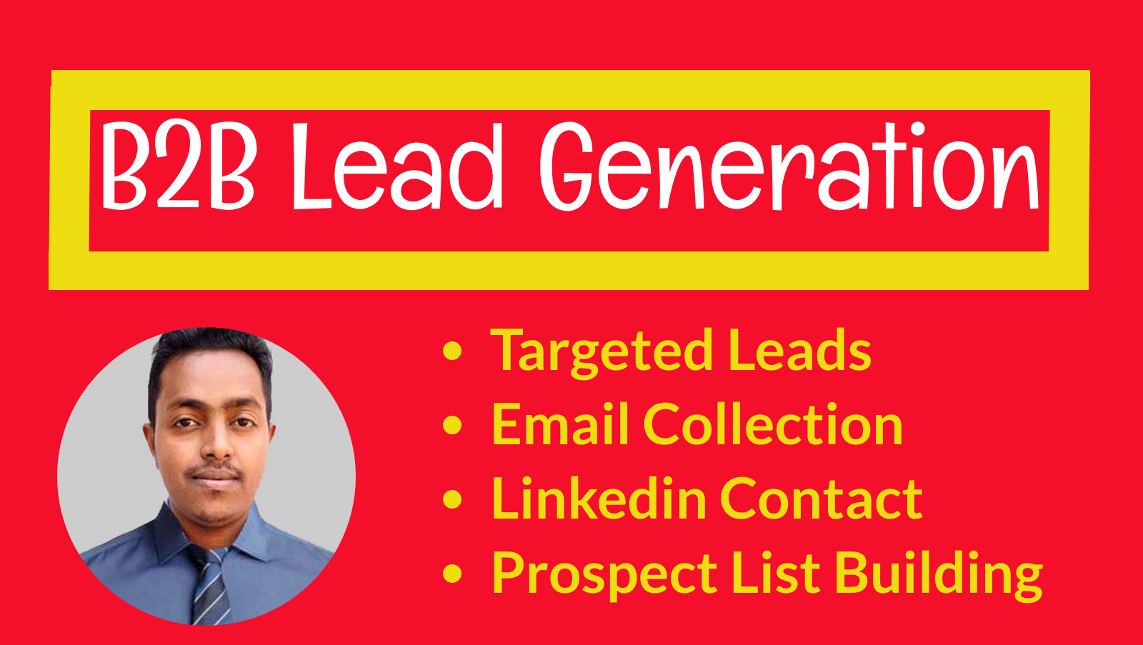 I will linkedin lead generation, data entry and list building