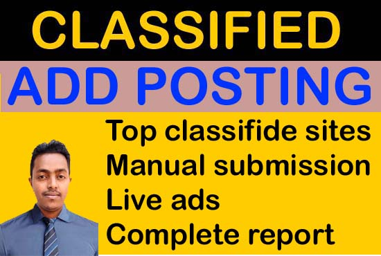 I will do classified add posting for your business in top sites.