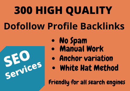 Provide 300 High Quality With High DA Profile Backlinks On Your Website