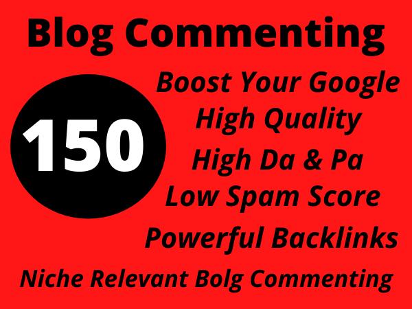I Will Create 150 High Da Do Follow Blog Commenting