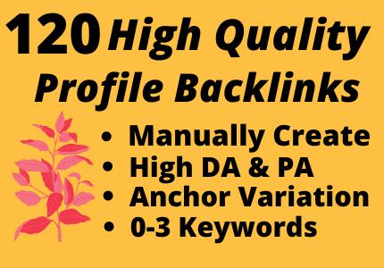Manually 120 High Quality Dofollow Profile Backlinks