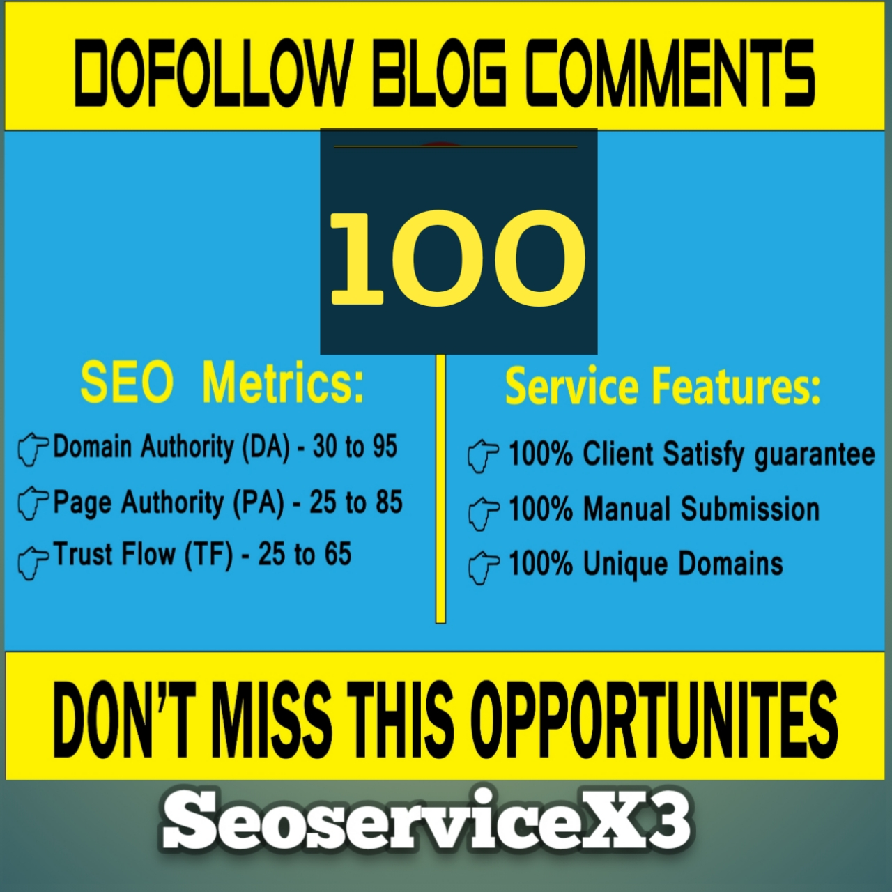 I will do 100+ high quality Dofollow blog comments