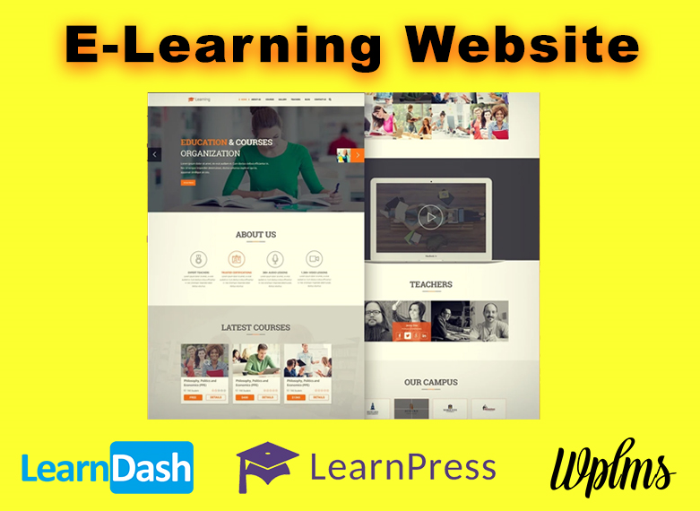 I will create E-Learning Website