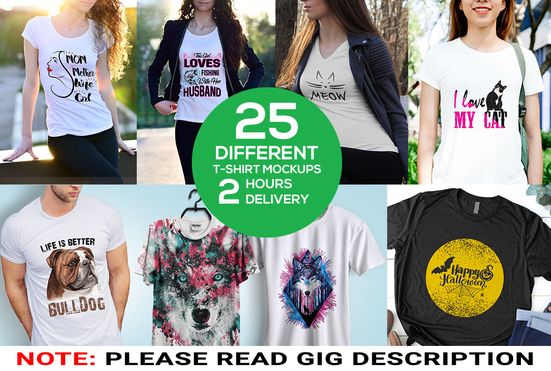 I will create awesome realistic t shirt,  hoodie mockups