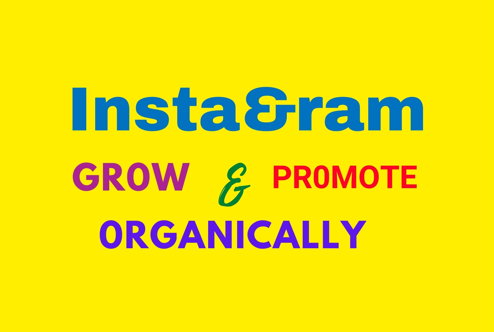I will promote and grow Instagram page naturally