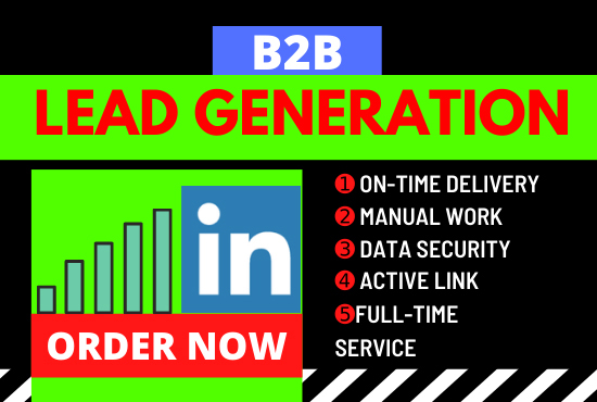I will generate b2b LinkedIn lead generation