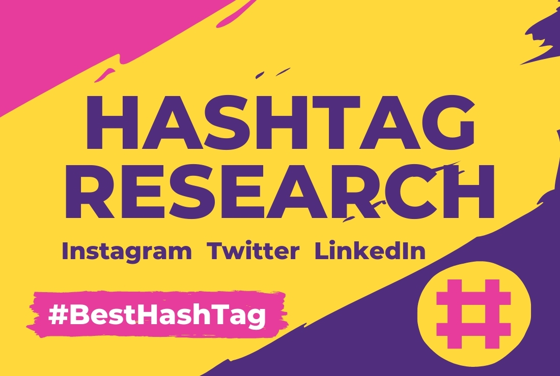 I will research Instagram hashtags for your social media growth