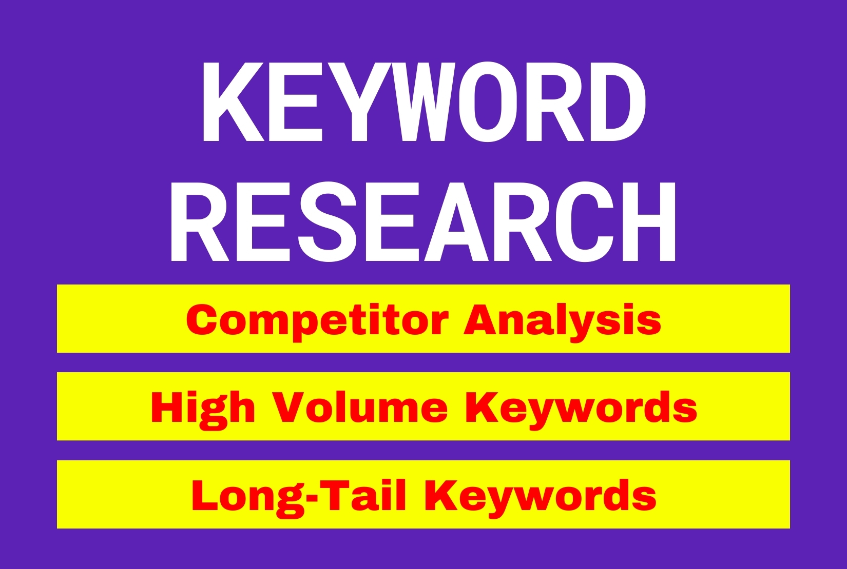 I will do keyword research and competitor analysis for google ranking