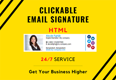 I will create smart HTML email signature just in one day