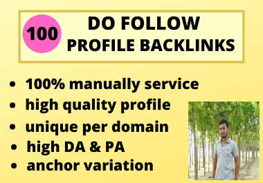 I Will Manually Create High DA 100 Profile Backlinks 2021