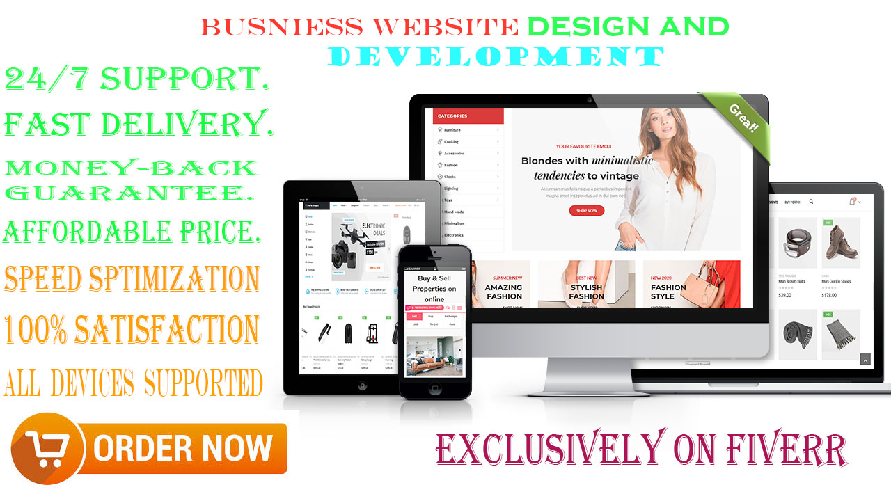 I Will Design And Develop Amazing WordPress Website For Your Business Or Blog
