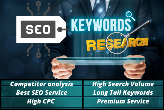 I will do 50 SEO keywords research and competitor analysis best service