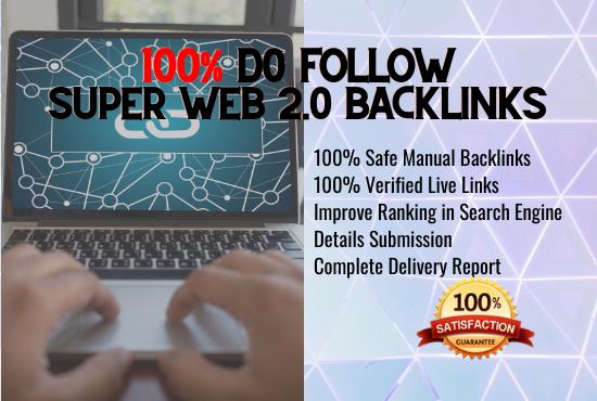 I will build 100 authority web 2.0 backlinks manually