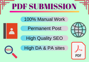 20 PDF submission high authority permanent backlinks manually creation