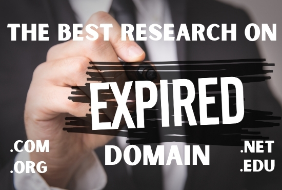 I will find niche relevant quality expired domain name with high DA,  PA,  TF,  CF