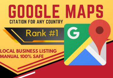 150 Google Map Citations manual work must rank your website local citation