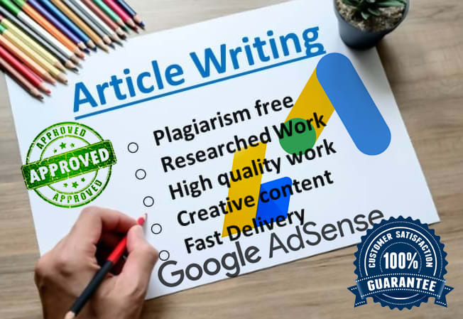 I will write 60 unique articles for adsense approval