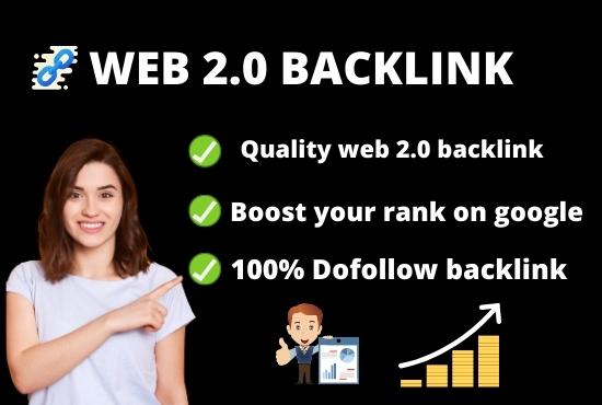 I will do 30 web 2.0 High authority DA PA backlinks
