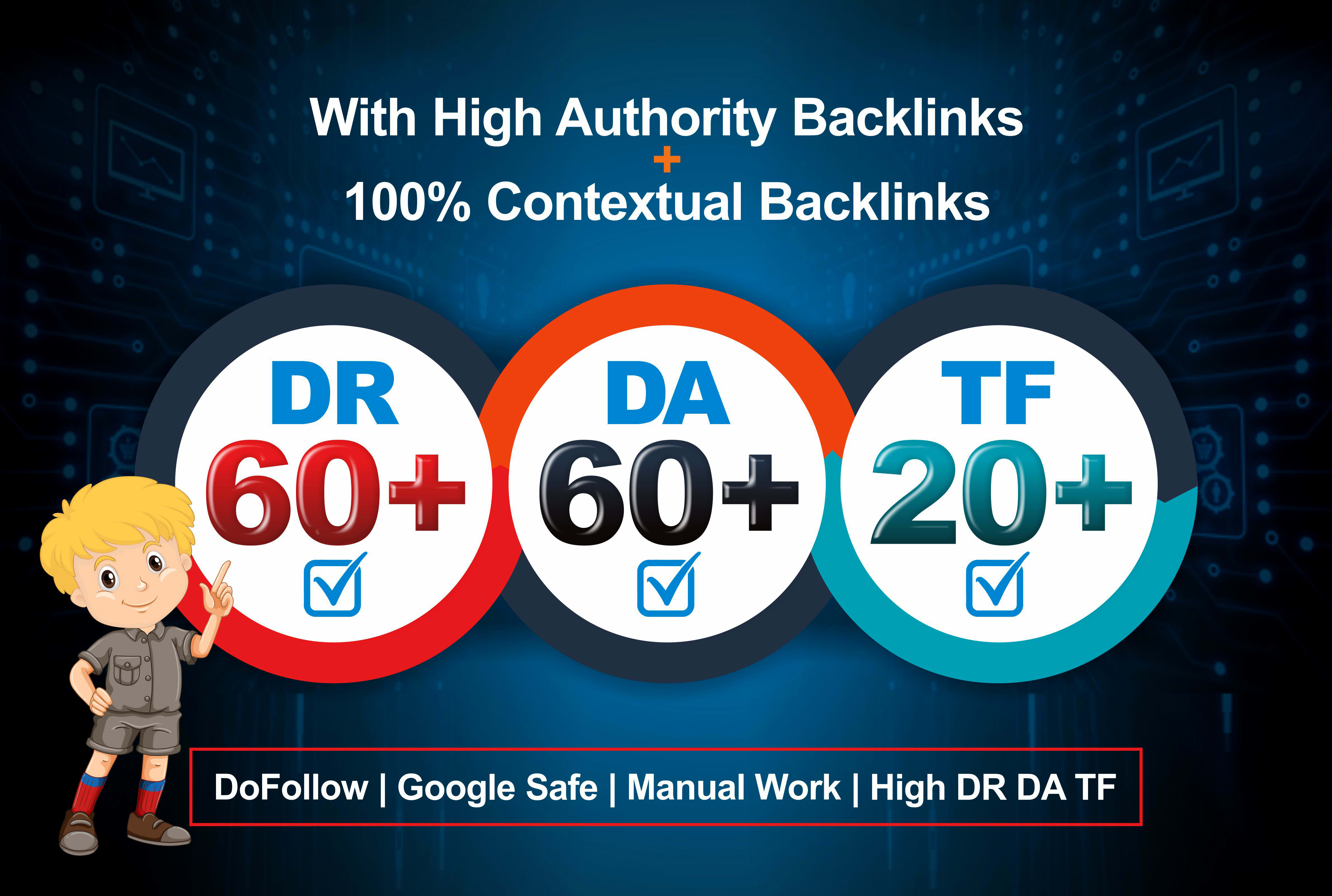 I will increase domain rating ahrefs 60 DR