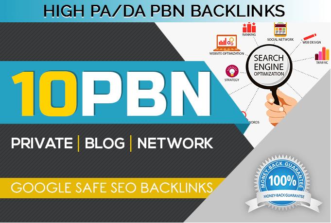 Provide you 10 high DA 50+ PBN links