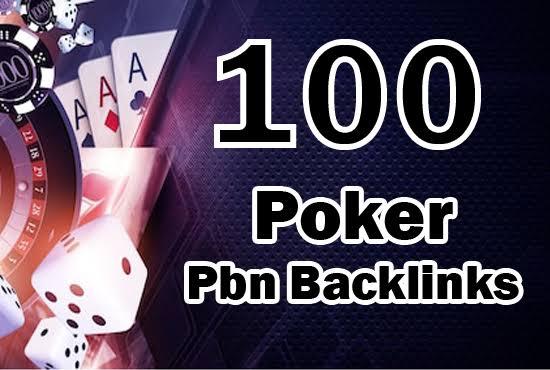 100 All DA 70+ Casino,  Poker,  Gambling High Quality PBN Backlinks