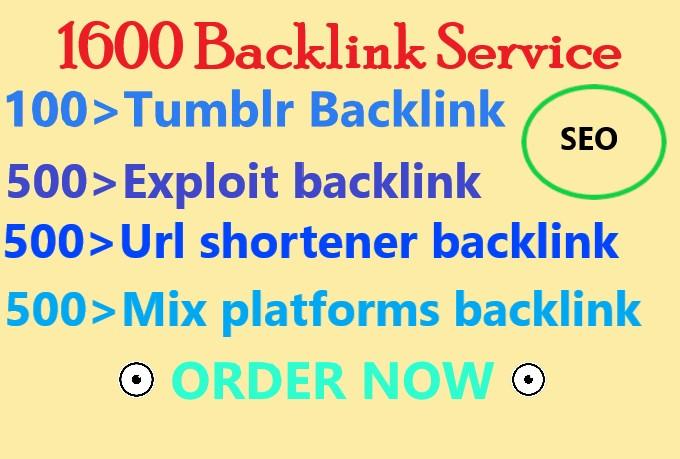 I will create 1600 High quality Google Top ranking Backlink