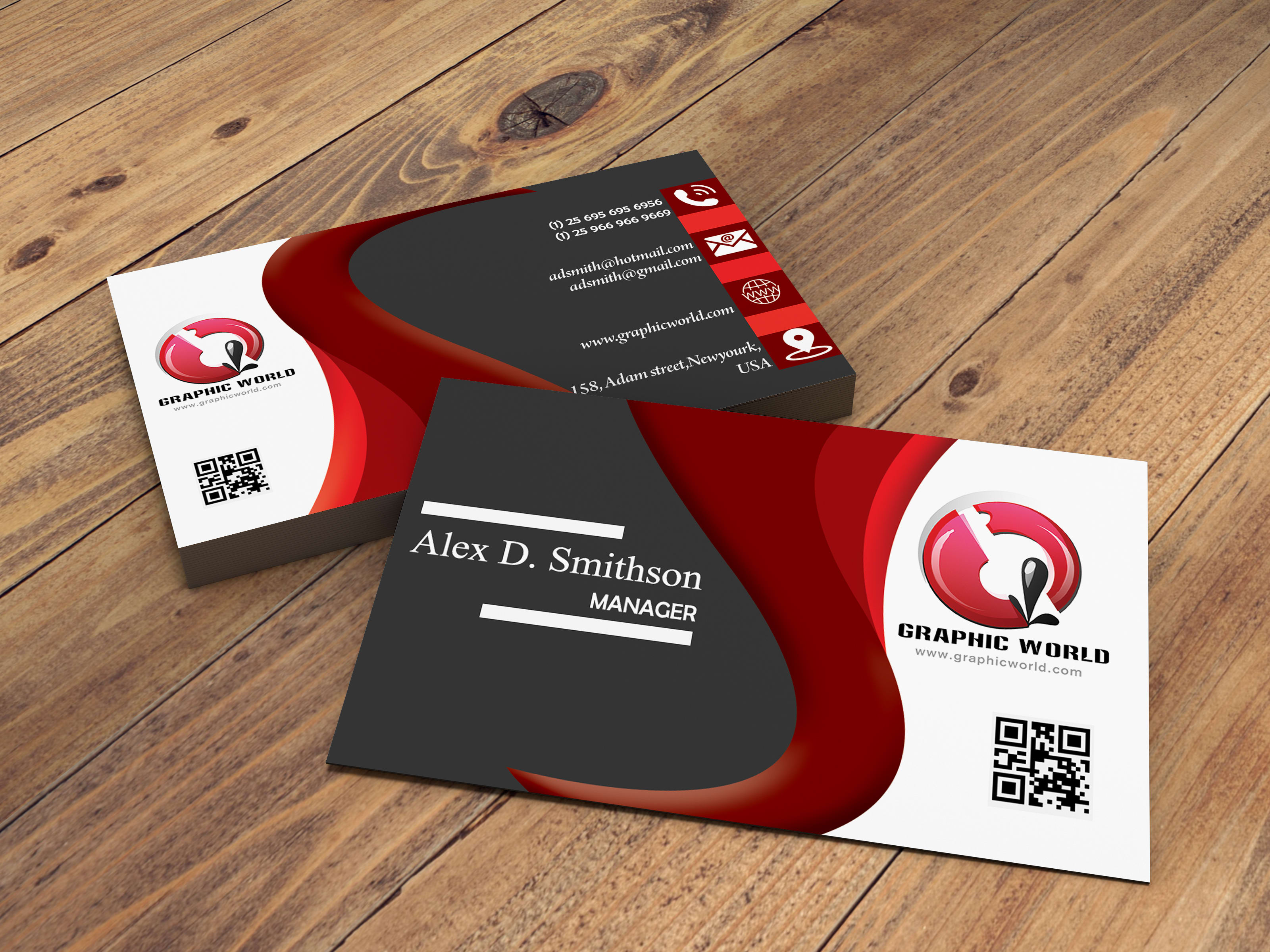I will design a unique and modern business card