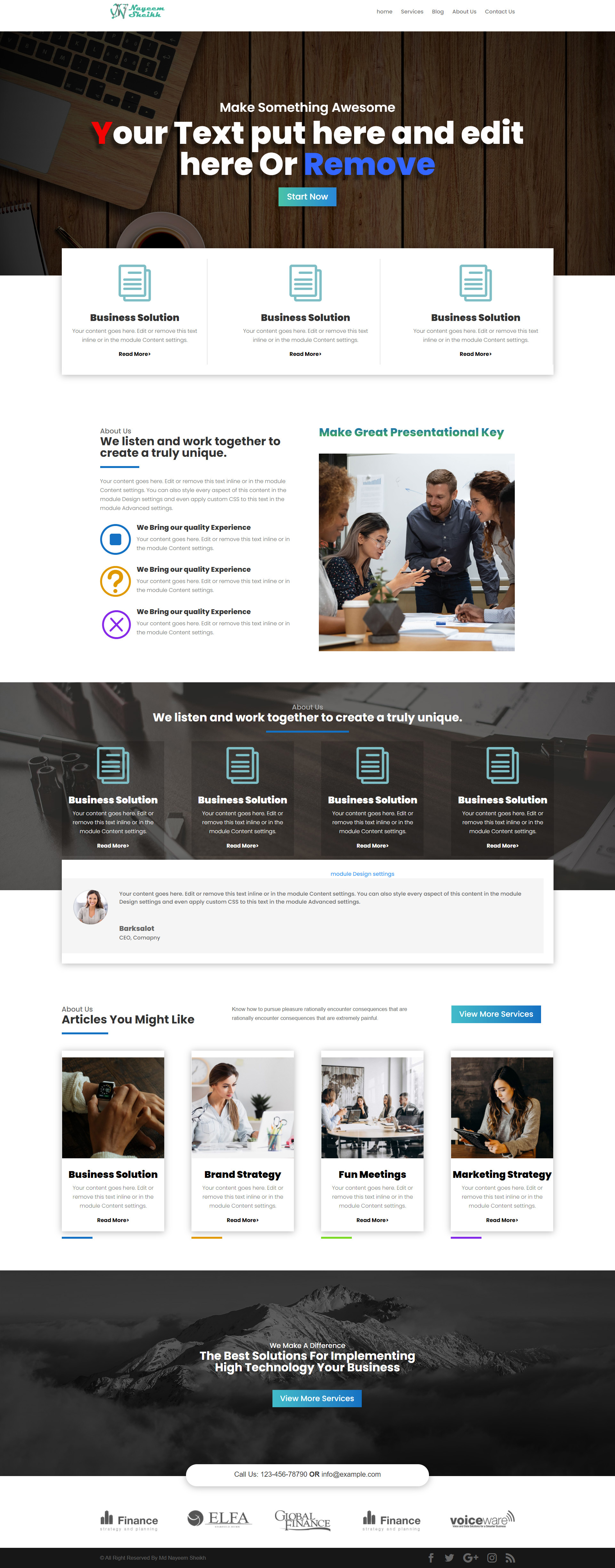 Design Professional WordPress Website for your Business
