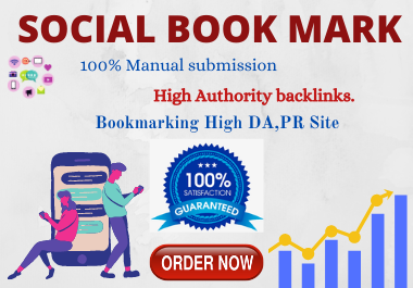 20 Social Bookmarking High authority Backlinks must rank your website permanent for $1