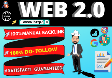 Manual 20 Web 2.0 backlinks High Authority link building permanent