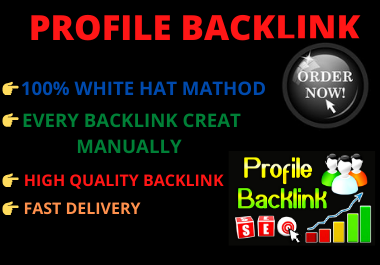 I will create 30 Profile backlink manually for your website