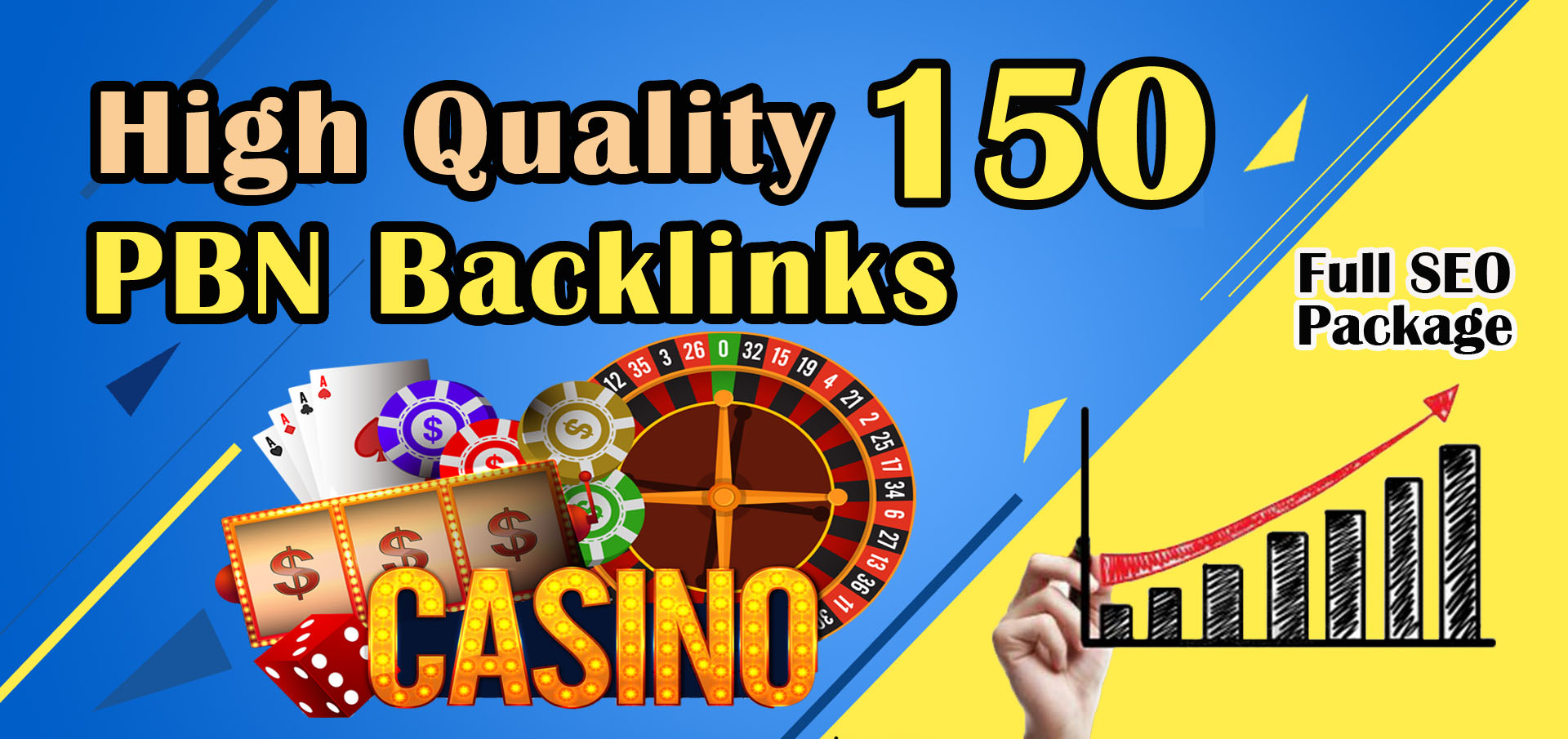 Get 150 High Quality Casino Gambling poker homepage pbn backlinks and judi related sites.
