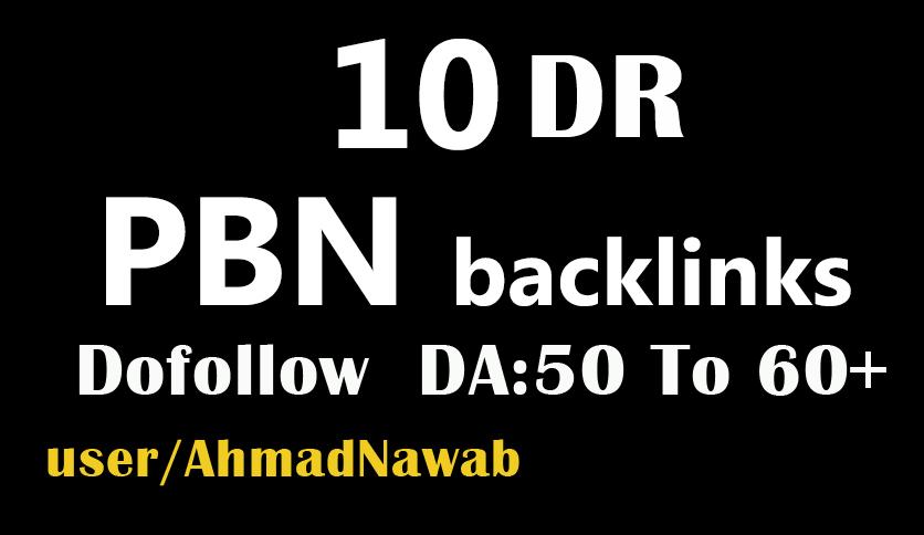 create 10 DR 50 plus homepage pbn backlinks