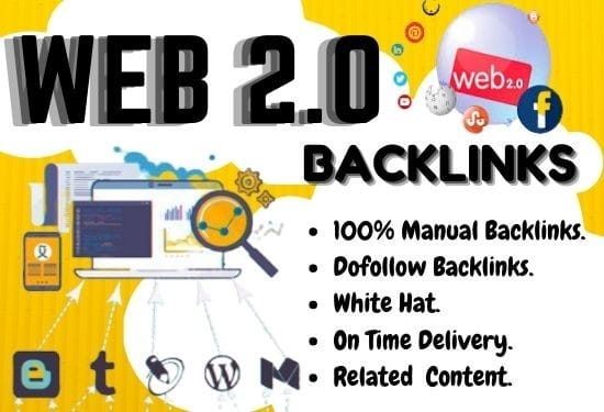 I will do high quality 50 web 2.0 backlinks