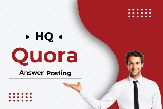 Promote your website 10 high quality quora answers with your keyword and url