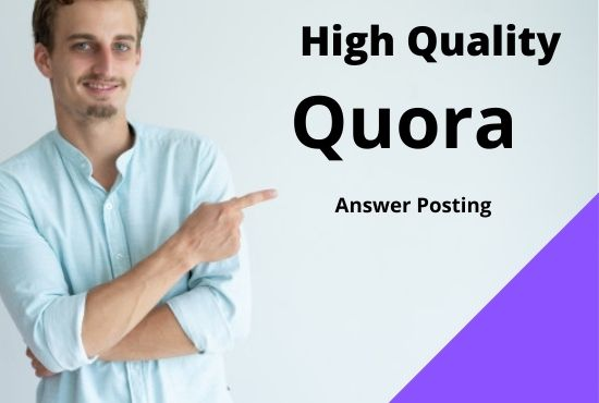 I will developed your website 5 high quality quora answers with your keyword and URL