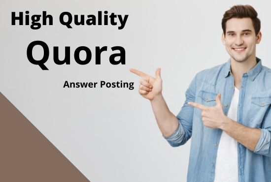 I wil provide Your website by 3 high-quality Quora Answers With vital Traffic