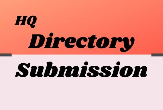I will do 100 best manual directory submissions