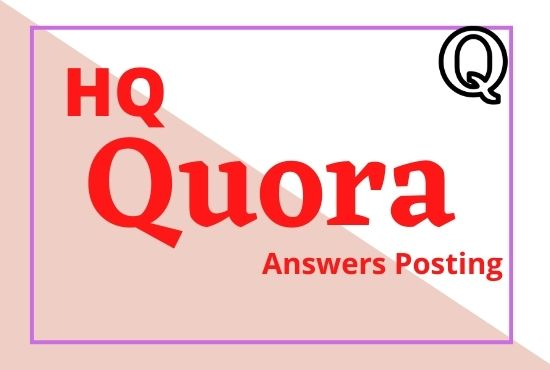 I will developed your website 5 high quality quora answers with your contextual link
