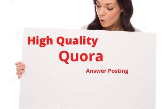 I will promote Your website by 20 high-quality Quora Answers With vital Traffic