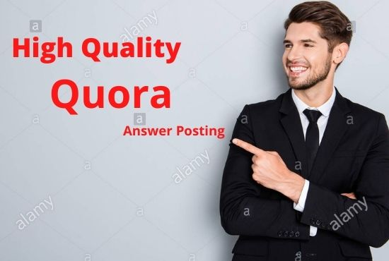 I will promote your website 10 high quality quora answers with your keyword and URL
