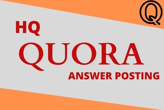 I will provide you high quality 20 Quora answers for getting targeted traffic.