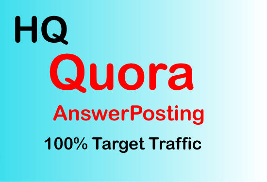I will do 10 Powerful Quora Answer with your Keyword & URL