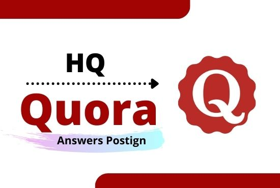 I Will Promote your High Quality 5 Quora Answer backlinks for your website
