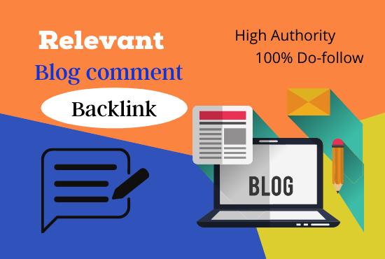 I will build manually 55 SEO dofollow blog comment backlinks