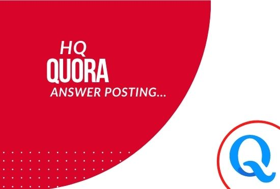 Get 20 high quality quora answers with backlink for your website